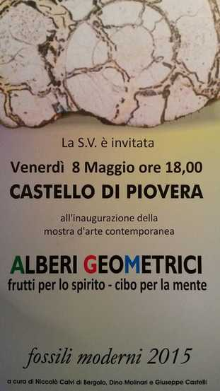 Alberi geometrici: frutti per la mente – cibo per lo spirito (rassegna Fossili Moderni)